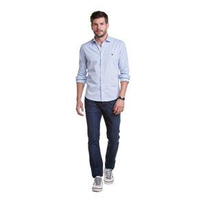 Camisa-Casual-Falso-Liso-Detalhe-Listras